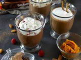 Pumpkin Spice, Almond & Raspberry Hot Chocolates
