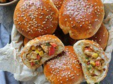 Savory Peanut Chicken Stuffed Buns