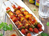 Spicy & Sweet Pineapple Tofu Skewers