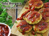 Tofu Burgers with Strawberry Picante Sauce