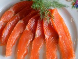 Salt Cured Salmon with Vodka, Dill and Spices