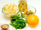 Healthy Salad with Oranges and Sauerkraut