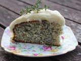 Guilt free lemon and poppy seed cake