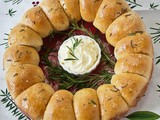 Brown Butter and Rosemary Dinner Rolls Dressed Up for Christmas