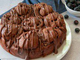 Chocolate Cinnamon Yeast Rolls with Chocolate Frosting