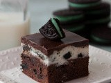 Mint Cookies and Cream Brownies