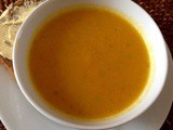 Carrot and Fennel Soup inspired by lunch at Olive Deli and Café