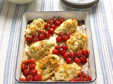 Mary Berry's Chicken with pesto, Taleggio and roasted tomatoes