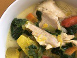 Chicken, Spinach and Pumpkin in Coconut Broth