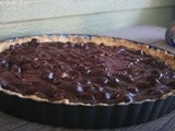 Deep Dark Chocolate Hazelnut Tart
