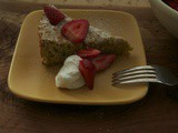 Pistachio Torte with Limoncello-Soaked Strawberries