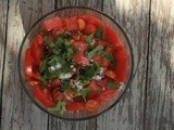 Watermelon, Tomato, and Feta Salad
