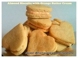 Almond Butter Biscuits with Fresh Orange Extract Butter Cream