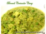 Broccoli and peas in coriander Curry