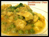 Cauliflower - Peas Kurma