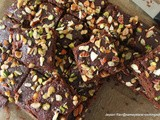Eggless Vegan Orange Chocolate Nut Brownies