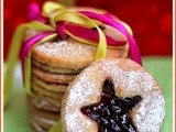 Linzer Cookies - Eggless