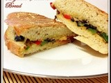 Muffuletta  Bread Sandwich from New Orleans (vegetarian version) for ccc