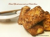 Sesame fried Tofu - Aishu's Recipe with Kaeshi Sauce