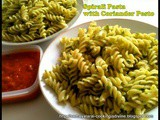 Spirali Pasta with Coriander Pesto