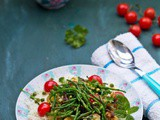 Vegan Samphire with Roast Potatoes and Peas salad