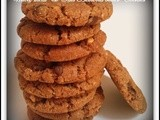 Whole wheat & Oats Almond butter cookies - Eggless