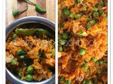 Carrot pattani poriyal / carrot and peas stir fry