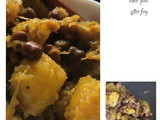 Pumpkin and brown channa poriyal/ pumpkin and brown chick pea stir fry