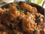 Spicy prawn curry