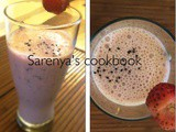 Strawberry chia seed milk shake