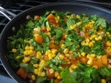 Corn, Kale and Butternut Squash Saute