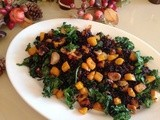 Forbidden Black Rice with Roasted Squash, Garlic and Kale
