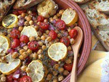 Lemon Roasted Garbanzo Beans with Roasted Garlic, Sundried Tomatoes and Olive Tapenade