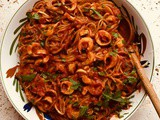 "Linguine with Spicy Vegan ""Calamari"""