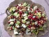 Pomegranate Walnut and Apple Salad