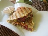 Reuben Quesadilla with homemade thousand islands dressing