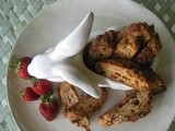 Strawberry and White Chocolate Biscotti