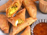 Avocado Egg Samosa / Roll