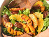 Grilled Peach Salad with Honey Vinaigrette
