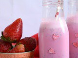 Strawberry Almond Milk Breakfast Smoothie(Love Potion - Valentine's Special)