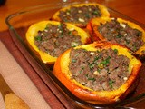 Acorn squash stuffed with Moroccan-spiced beef