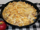 Apple and pork macaroni and cheese