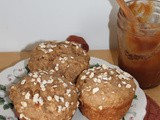 Apple butter oatmeal muffins