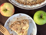 Apple cream pie with oatmeal crust