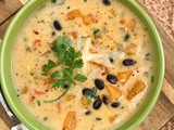 Cheddar butternut squash and black bean chowder