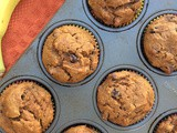 Chocolate chip banana pumpkin muffins