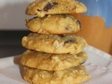 Chocolate chip butternut squash oatmeal cookies