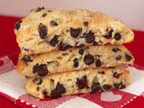 Chocolate chip cherry scones {#FoodBloggerLove}