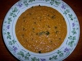 Curried butternut squash and yellow pea soup