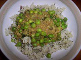 Green pea curry with mint rice
